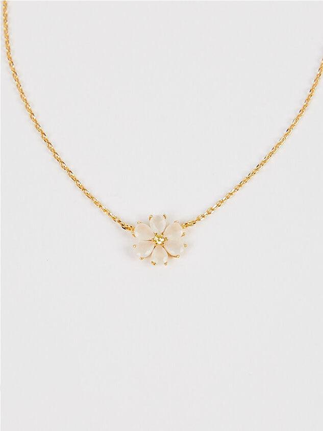 Crystal Flower Necklace Detail 2 - Altar'd State