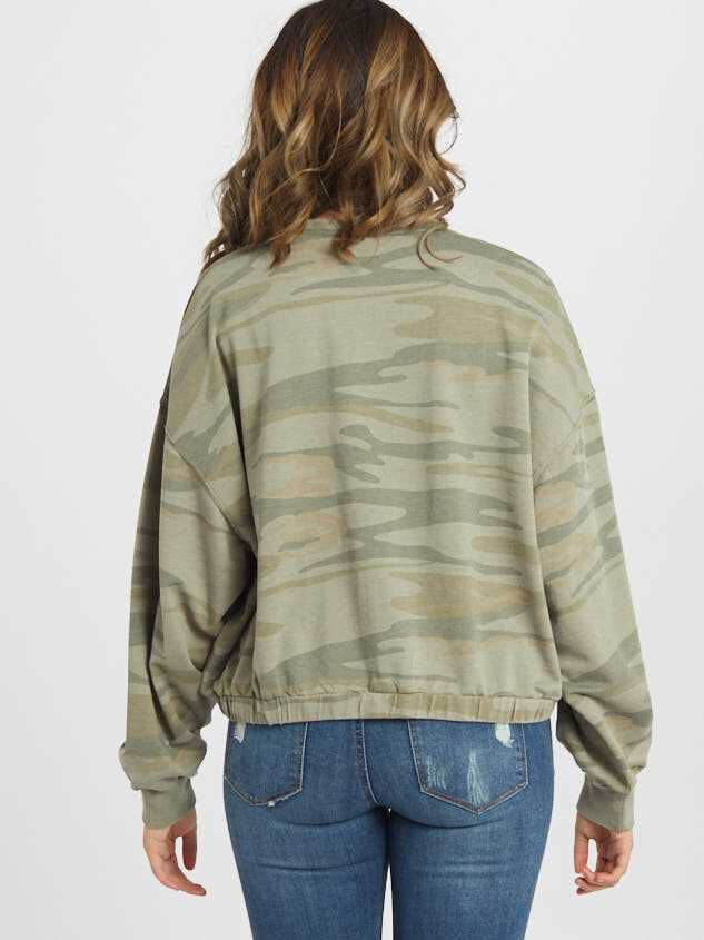 Washed Camo Top Detail 3 - Altar'd State