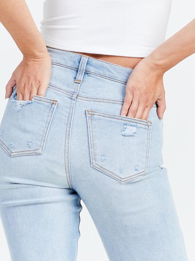 Crystal Beach Straight Leg Jeans Detail 5 - Altar'd State