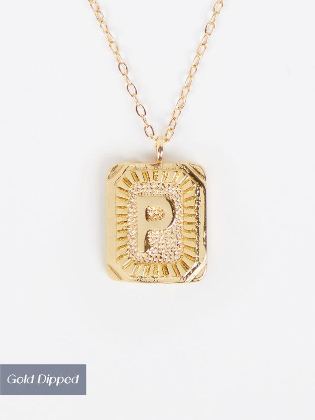 Burst Tag Monogram Necklace - P - Altar'd State