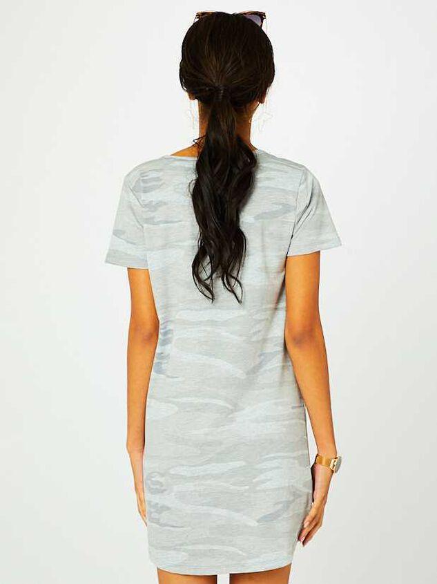Camo T-Shirt Dress Detail 3 - Altar'd State