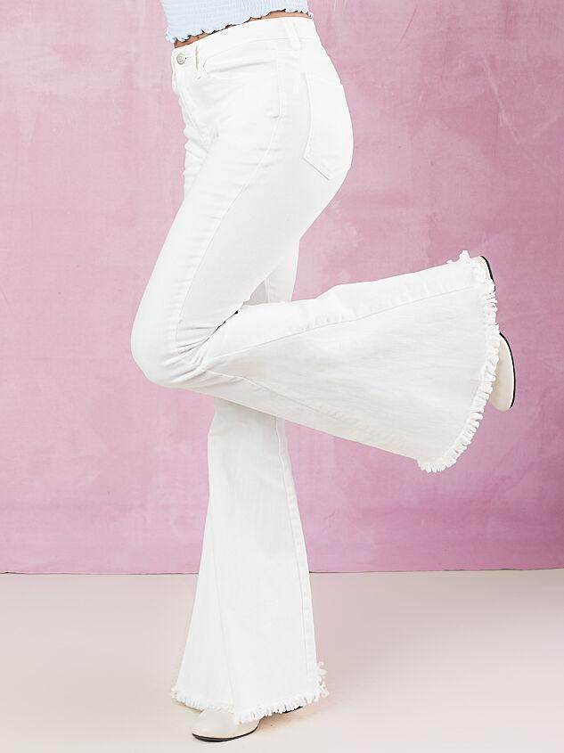 Tennley White Flare Jeans Detail 4 - Altar'd State