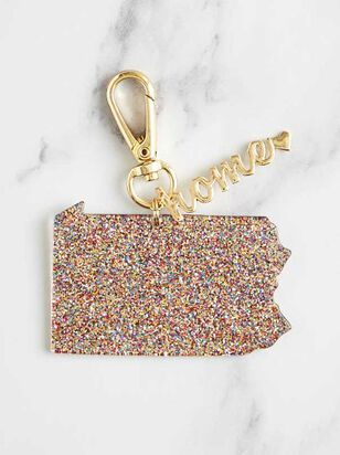 Home Glitter Keychain - Pennsylvania - Altar'd State
