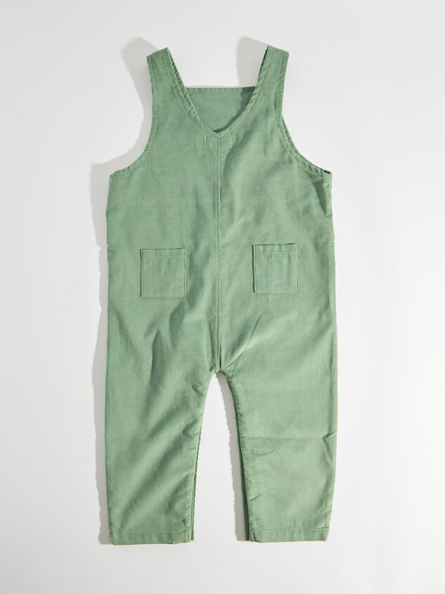 Tullabee Green Corduroy Overalls Detail 2 - Altar'd State