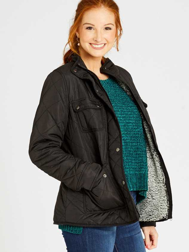 Alpine Quilted Puffer Jacket Detail 3 - Altar'd State