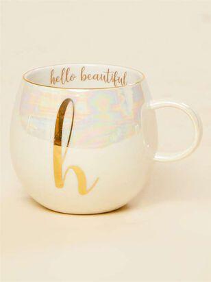 Hello Beautiful Iridescent Monogram Mug - H - Altar'd State