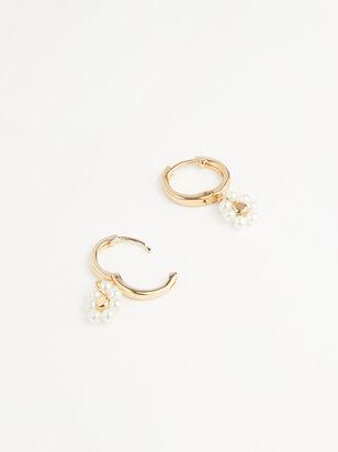 Dainty Flower Mini Hoop Earrings - Altar'd State
