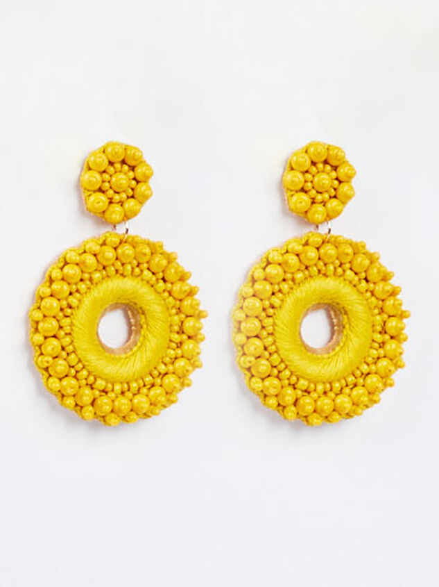 Katerina Earrings - Yellow - Altar'd State