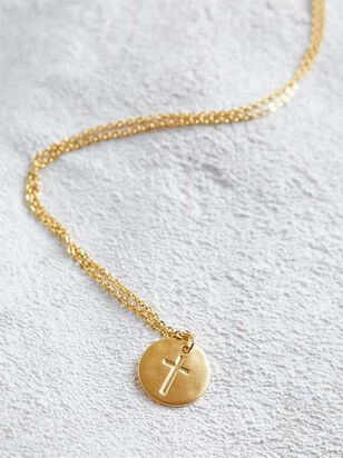 Engraved Cross Necklace - Altar'd State