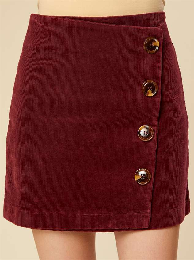 Cute as Button Cord Skirt - Altar'd State