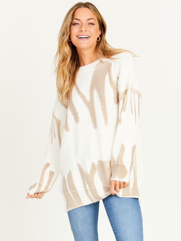 Spray Painted Oversized Sweater - Altar'd State