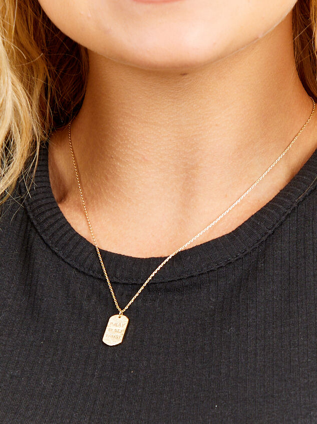 Pray Wait Trust Necklace Detail 2 - Altar'd State