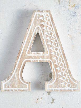 Wooden Monogram Letter Block - A - Altar'd State