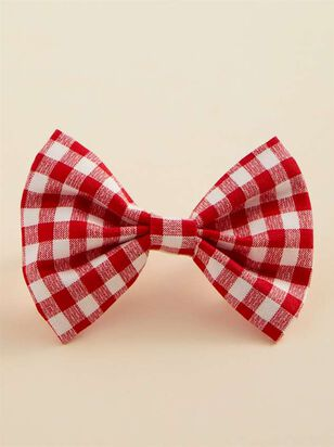 Bear & Ollie's Red Gingham Dog Collar Bow Tie - Altar'd State