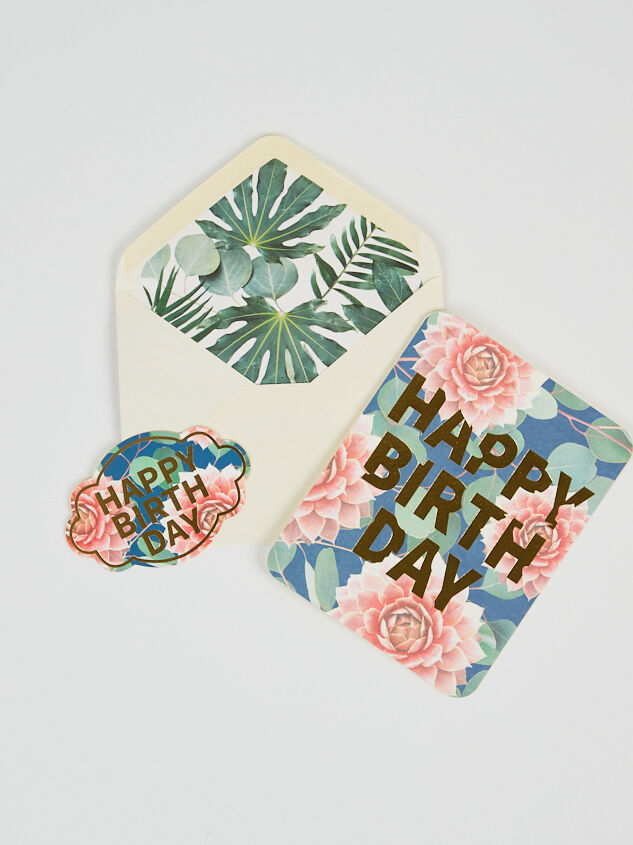 Pink Floral Deluxe Birthday Card - Altar'd State