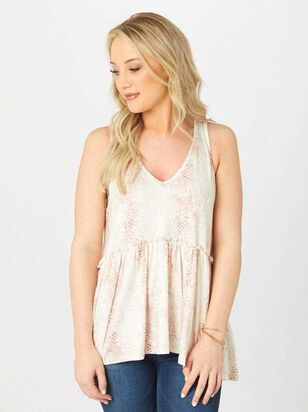 Snakeskin Ruffle Top - Altar'd State