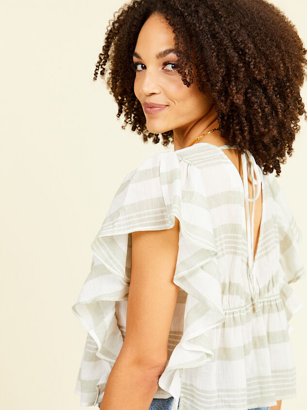 Sloan Striped Top Detail 4 - Altar'd State