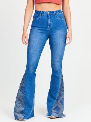 Bandana Flare Jeans - Altar'd State