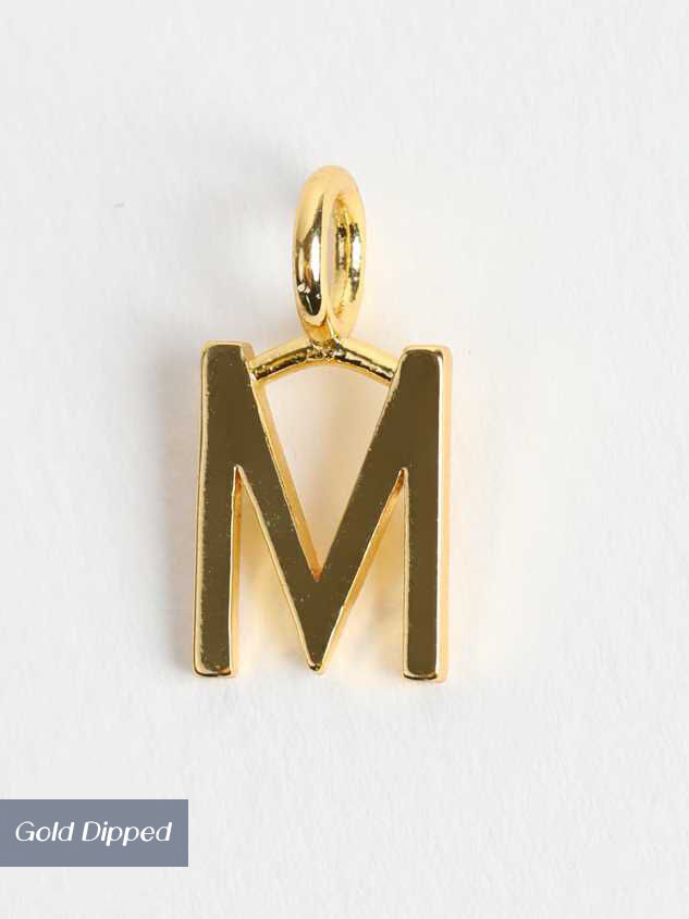 18k Gold Initial Charm - M - Altar'd State