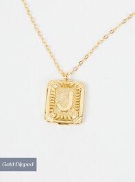 Burst Tag Monogram Necklace - J Detail 2 - Altar'd State