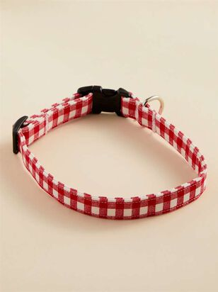 Bear & Ollie's Red Gingham Dog Collar - Medium - Altar'd State