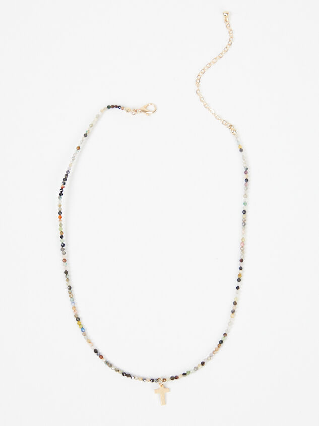 Beaded Cross Necklace - Multi - Altar'd State