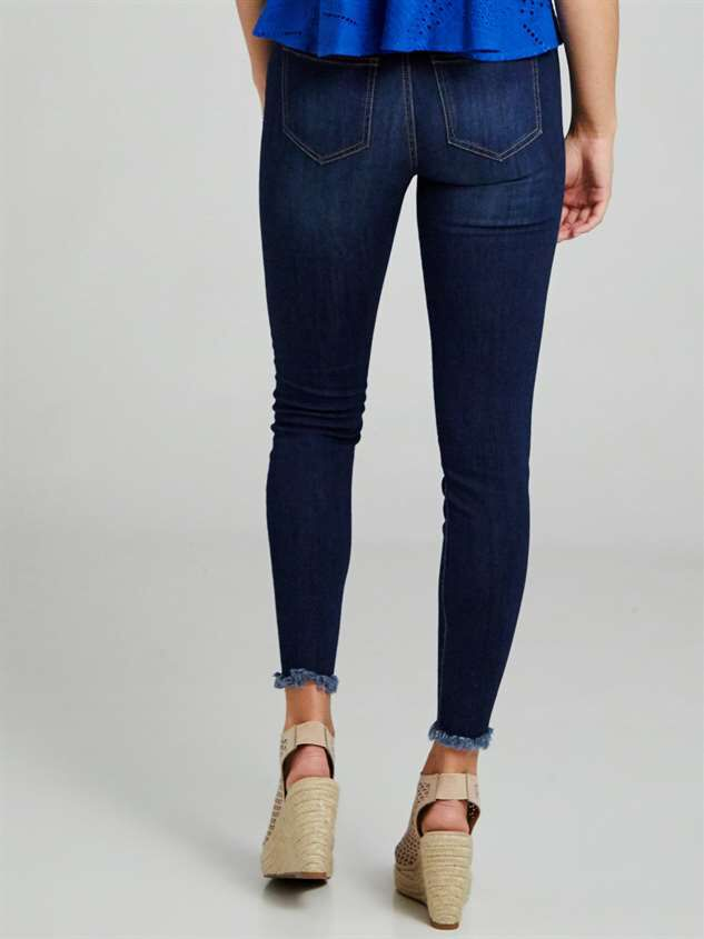 Feather Skinny Jeans Detail 4 - Altar'd State