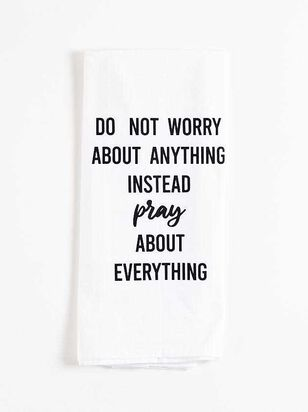 Do Not Worry Hand Towel - Altar'd State