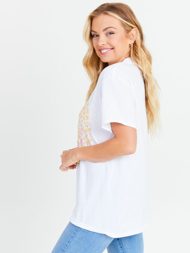 Leopard Smiley Oversized Tee Detail 3 - Altar'd State
