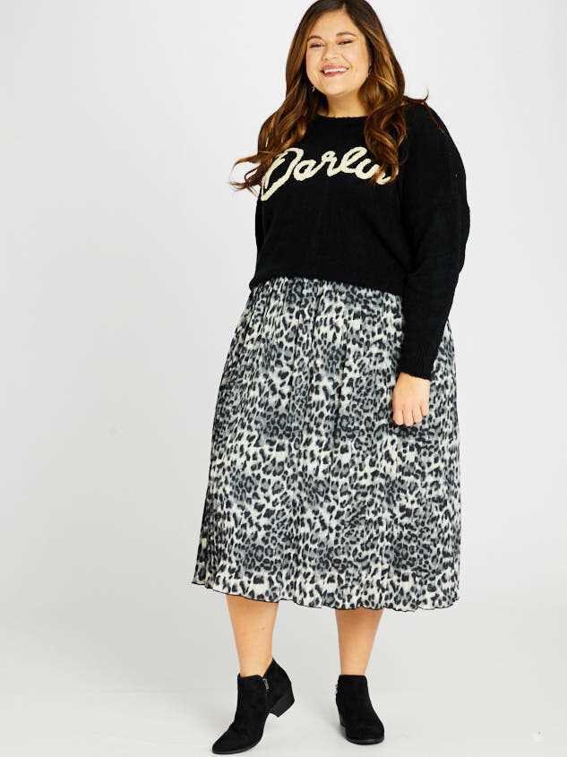 Leopard Midi Skirt - Altar'd State
