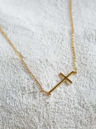 18K Gold Plated Cross Necklace - Altar'd State