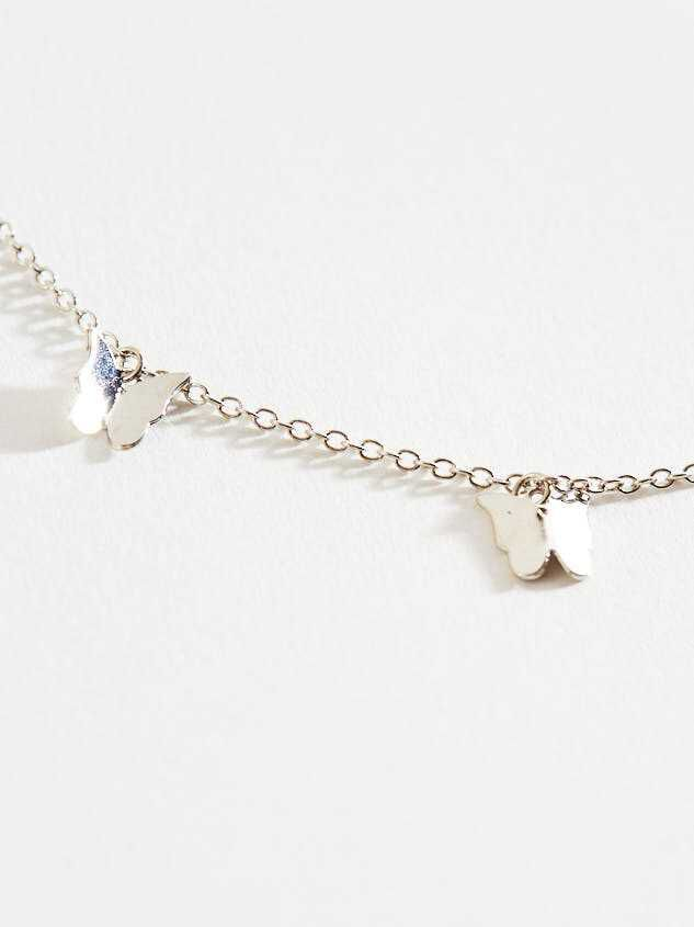 Butterfly Charm Necklace - Silver Detail 3 - Altar'd State