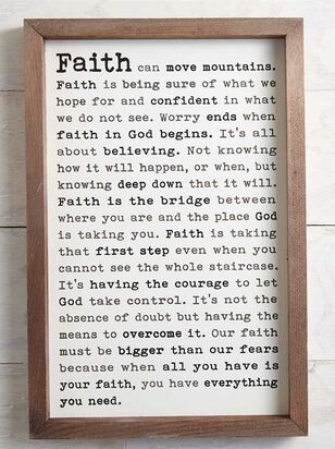 Faith Can Move Mountains Wall Art - Altar'd State