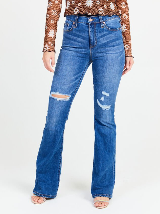 Taylor Flare Jeans Detail 2 - Altar'd State