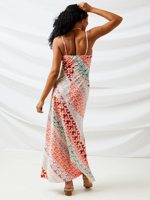 Carlie Patchwork Maxi Dress Detail 3 - Altar'd State