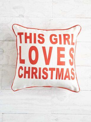 This Girl Loves Christmas Pillow - Altar'd State