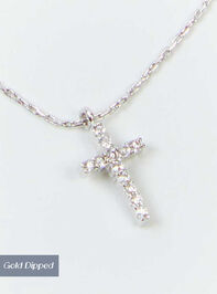 Cross Charm Necklace - Silver - Altar'd State