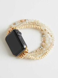 Beaded Smart Watch Band - White - Altar'd State
