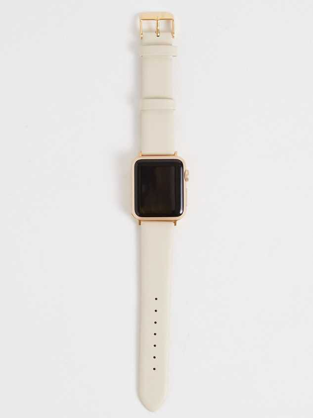 Leather Smart Watch Band - Bone - Altar'd State