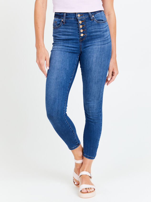 Eveleigh Skinny Jeans Detail 1 - Altar'd State
