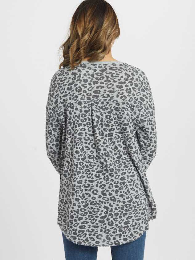 Leopard Tunic Top Detail 3 - Altar'd State