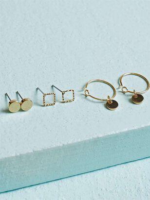 Wonder Earring Set - Gold - Altar'd State