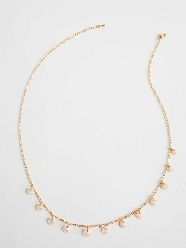 Floating Crackle Charm Choker Necklace - Altar'd State