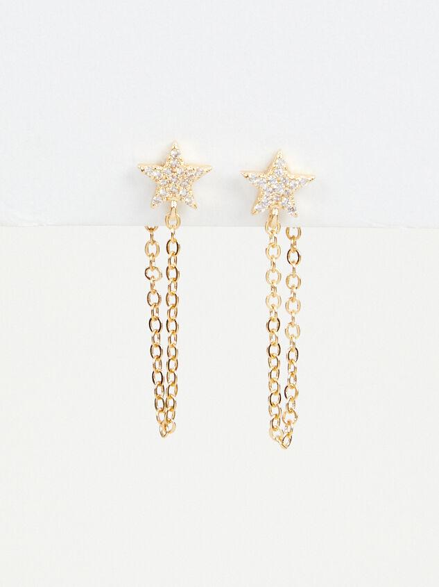 Star Chain Hoop Earrings - Altar'd State