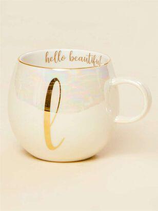 Hello Beautiful Iridescent Monogram Mug - L - Altar'd State
