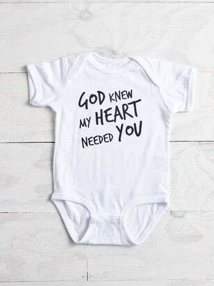 God Knew My Heart Needed You Onesie - Altar'd State