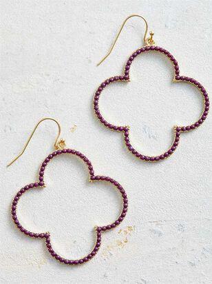 Clover Field Earrings - Wine - Altar'd State