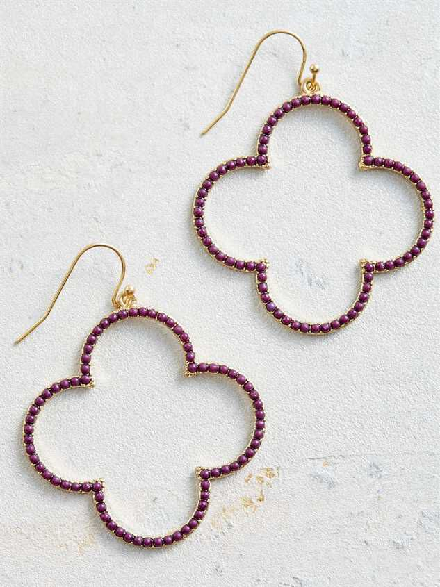 Clover Field Earrings – Wine