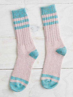 Lazy Day Crew Socks - Altar'd State