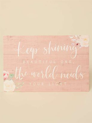 Keep Shining Pallet Sign - Altar'd State